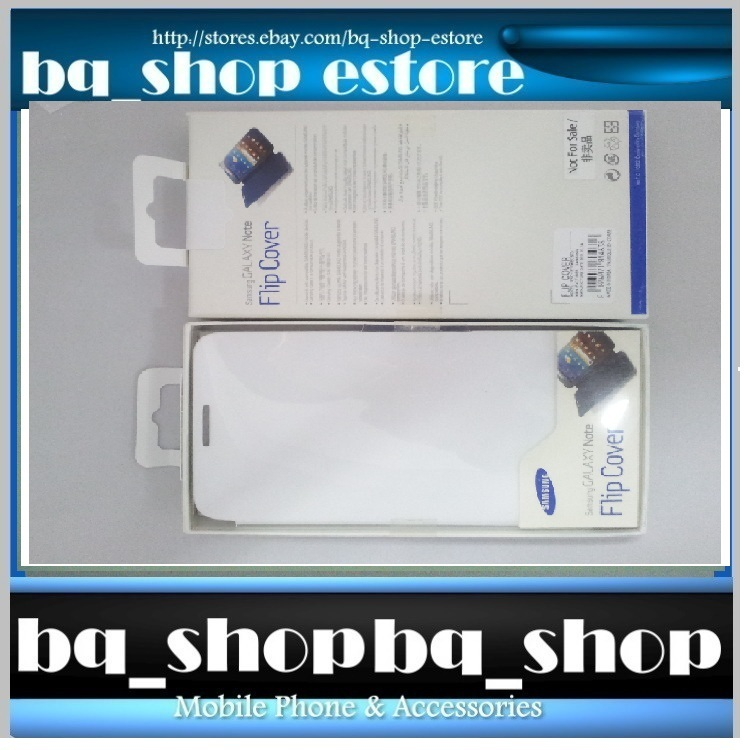 Original Brand New Samsung Galaxy Note N7000/ i9220 White Filp C