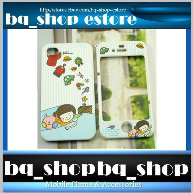 Hard Case Cover for Apple IPhone 4 4S Korea BLUE CHRISTMAS DREAM