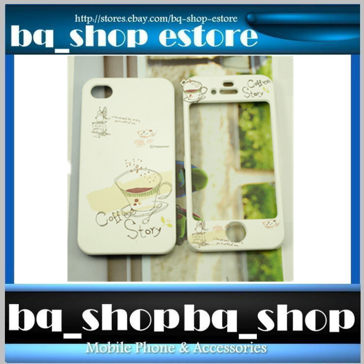 Hard Case Cover for Apple IPhone 4 4S Korea COFFEE CUP Style