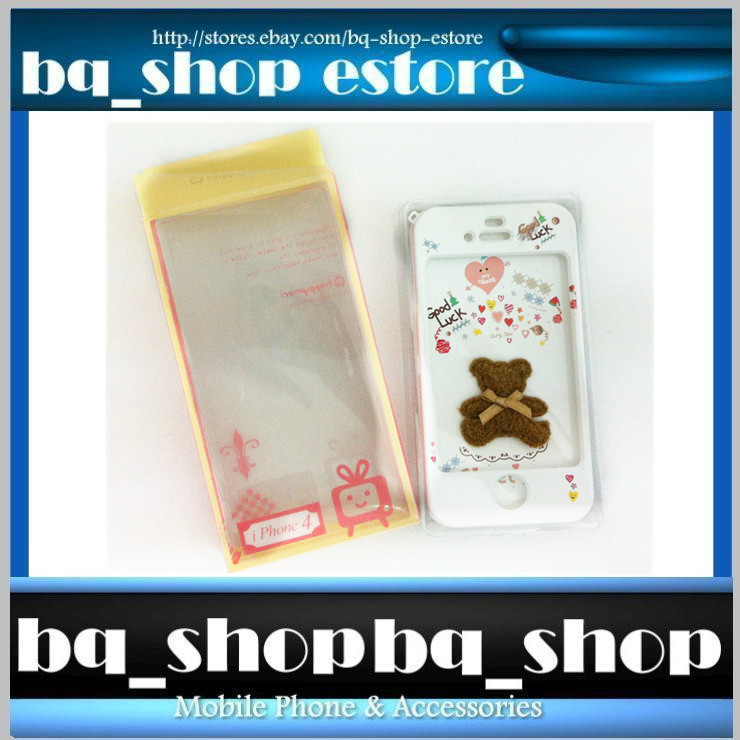 Hard Case Cover for Apple IPhone 4 4S Korea Brown bear Style