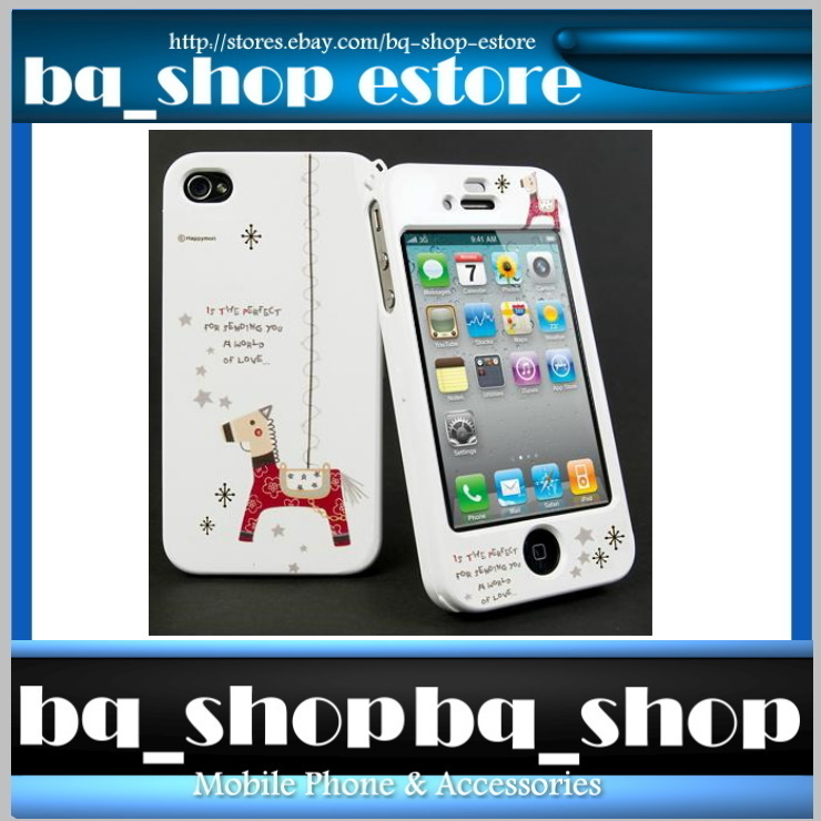 Hard Case Cover for Apple IPhone 4 4S Korea Fashion Wooden Horse