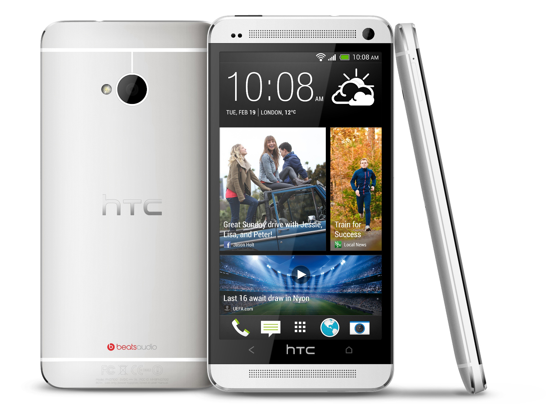 HTC One 801n 801s Silver White 32GB