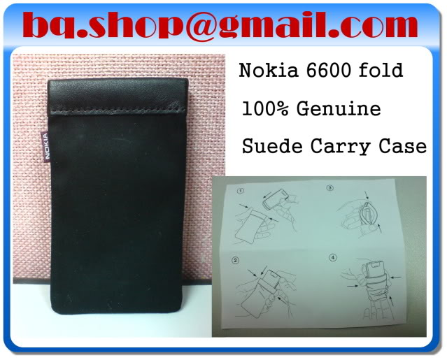 New Original Genuine NOKIA 6600 FOLD Suede Pouch Case
